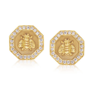 Mazza .72 ct. t.w. Diamond Bumble Bee Earrings in 14kt Yellow Gold, , default