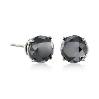 2.00 ct. t.w. Black Diamond Stud Earrings in 14kt White Gold