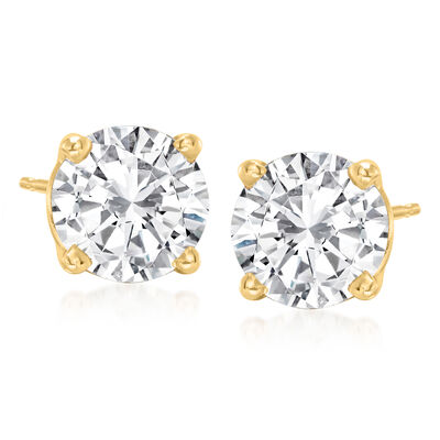 3.00 ct. t.w. Diamond Stud Earrings in 14kt Yellow Gold