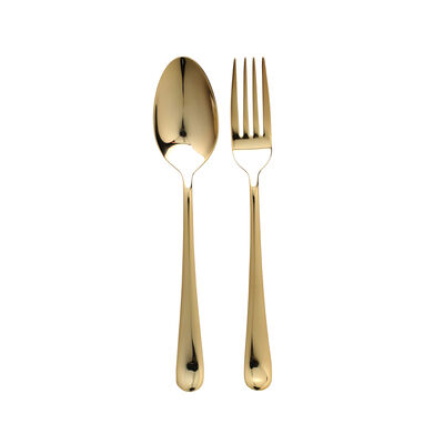 """Vietri """"Settimocielo Oro"""" 2-pc 18/10 Stainless Steel Serving Set from Italy"""