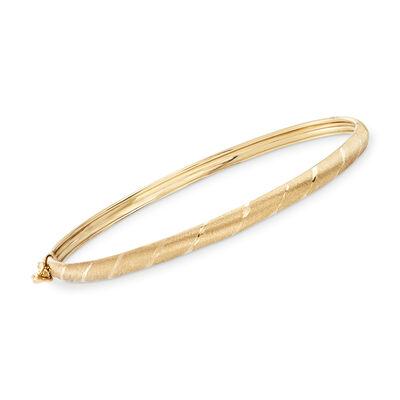 14kt Yellow Gold Wrapped Bangle Bracelet, , default