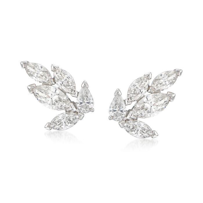 """Swarovski Crystal """"Louison"""" Marquise Crystal Stud Earrings in Silvertone, , default"""