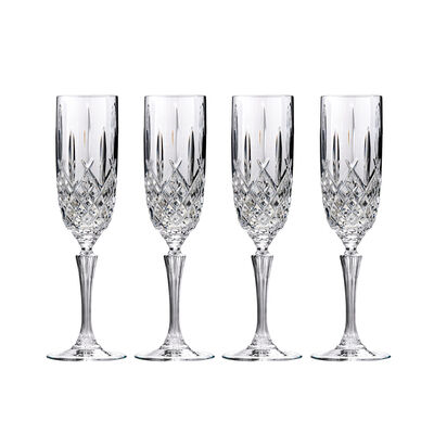 "Marquis by Waterford Crystal ""Markham"" Set of 4 Flute Glasses from Italy"