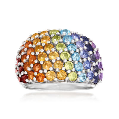 2.80 ct. t.w. Multi-Gemstone Ring in Sterling Silver