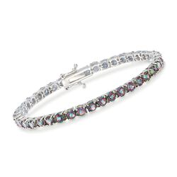 "14.00 ct. t.w. Mystic Topaz Tennis Bracelet in Sterling Silver. 7"", , default"