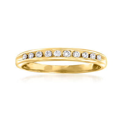C. 1989 Vintage .30 ct. t.w. Diamond Ring in 14kt Yellow Gold