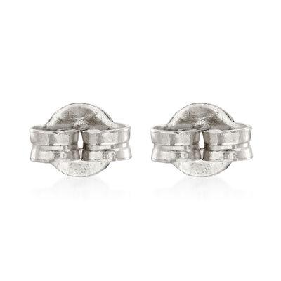 Italian 14kt White Gold Medium 5mm Earring Backings