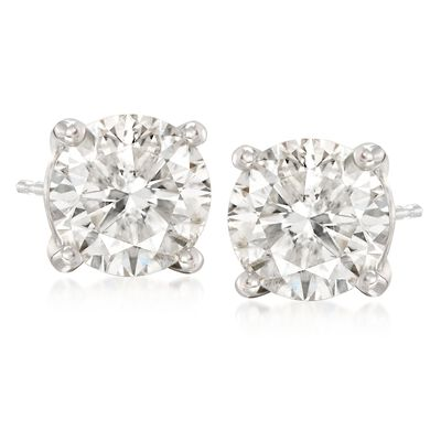 5.00 ct. t.w. Diamond Stud Earrings in 14kt White Gold, , default