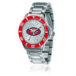 Men's 46mm NFL San Francisco 49ers Stainless Steel Key Watch, , default
