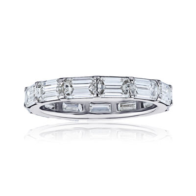 2.40 ct. t.w. Emerald-Cut Diamond Eternity Band in Platinum