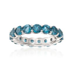 4.50 ct. t.w. London Blue Topaz Eternity Band in Sterling Silver, , default