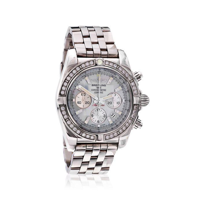 Breitling Chronomat 44 Men's Auto Chronograph Diamond Watch in Stainless Steel