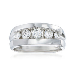 Men's 1.00 ct. t.w. Diamond Wedding Ring in 14kt White Gold, , default