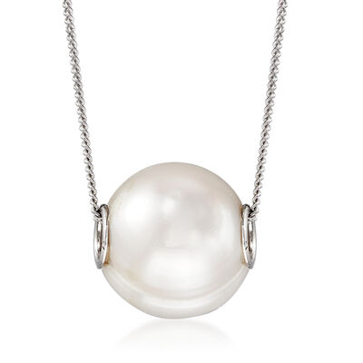 10-10.5mm Cultured Pearl Pendant Necklace in Sterling Silver, , default