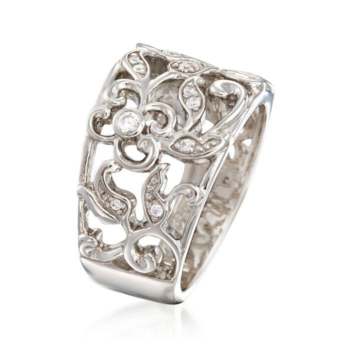 "Belle Etoile ""Empress"" .20 ct. t.w. CZ Ring in Sterling Silver"