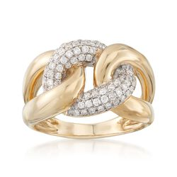 .50 ct. t.w. Diamond Oval Link Ring in 14kt Yellow Gold, , default