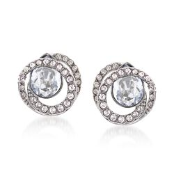 "Swarovski Crystal ""Generation"" Crystal Earrings in Silvertone, , default"