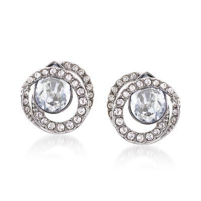 "Swarovski Crystal ""Generation"" Crystal Earrings in Silvertone, , default"