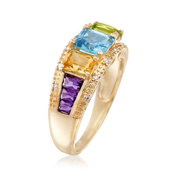 2.00 ct. t.w. Mixed Gemstone Ring in 14kt Yellow Gold, , default