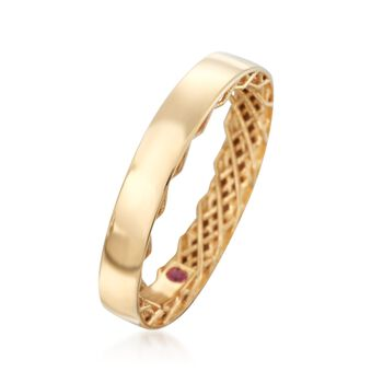 """Roberto Coin """"Symphony"""" Golden Gate Ring in 18kt Yellow Gold. Size 7, , default"""