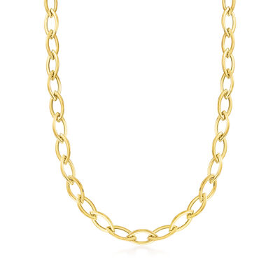 C. 1990 Vintage 14kt Yellow Gold Link Necklace