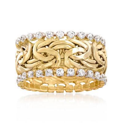 1.25 ct. t.w. CZ Byzantine Eternity Band in 14kt Yellow Gold
