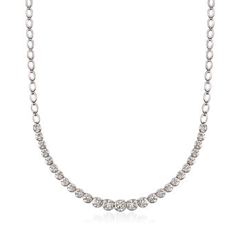 1.00 ct. t.w. Graduated Diamond Illusion Necklace in Sterling Silver, , default