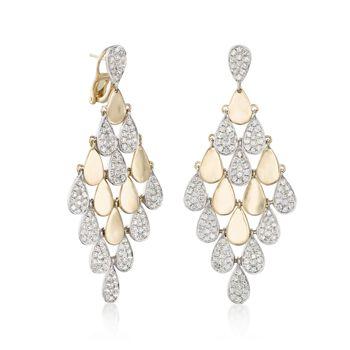 3.00 ct. t.w. Diamond Chandelier Earrings in 18kt Yellow Gold , , default