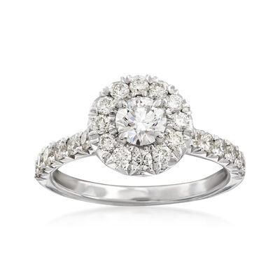 Henri Daussi 1.16 ct. t.w. Diamond Engagement Ring in 18kt White Gold, , default