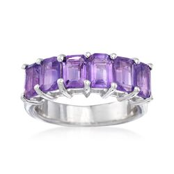 3.10 ct. t.w. Amethyst Ring in Sterling Silver, , default