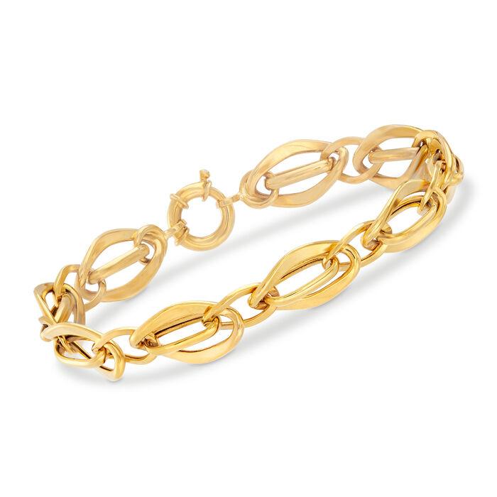 22kt Yellow Gold Interlocking-Link Bracelet, , default