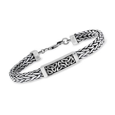 Sterling Silver Trinity Knot Bracelet, , default