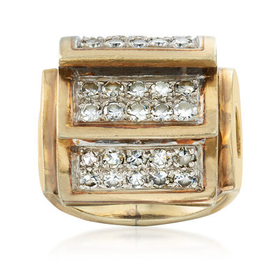 C. 1980 Vintage 1.00 ct. t.w. Diamond Layered-Style Ring in 14kt Yellow Gold, , default