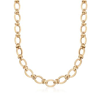 "14kt Yellow Gold Knotted Link Necklace. 17"", , default"