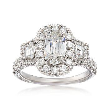 Henri Daussi 2.29 ct. t.w. Certified Diamond Ring in 18kt White Gold, , default