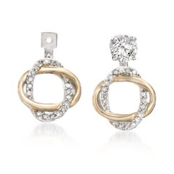 .15 ct. t.w. Diamond Earring Jackets in 14kt Two-Tone Gold , , default