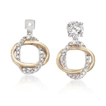 .15 ct. t.w. Diamond Earring Jackets in 14kt Two-Tone Gold , , default