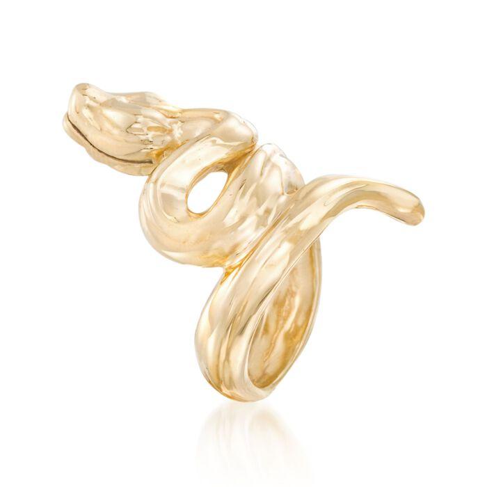 Italian 18kt Yellow Gold Snake Ring