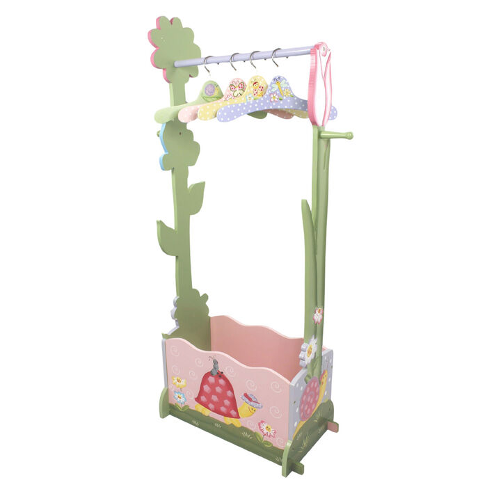 Child's Magic Garden Wooden Valet Rack with 4 Hangers, , default