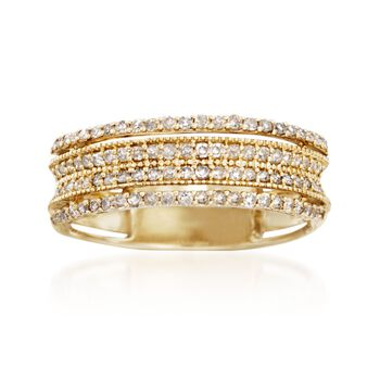 .45 ct. t.w. Diamond Multi-Row Ring in 14kt Yellow Gold, , default