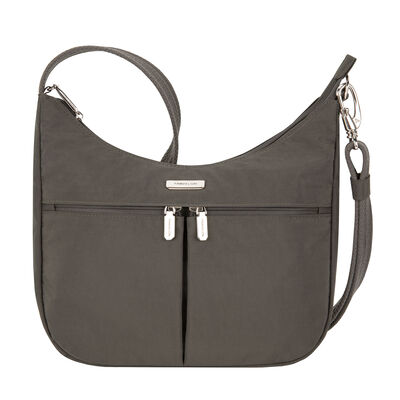 Anti-Theft Essential East-West Brown Hobo Bag