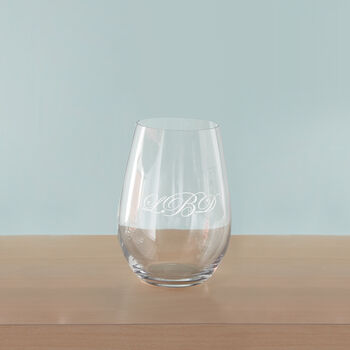 Glass Personalized Stemless Wine Glasses, , default