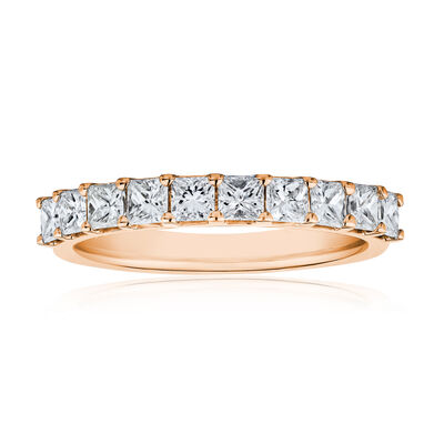 1.00 ct. t.w. Princess-Cut Diamond Ring in 14kt Rose Gold, , default