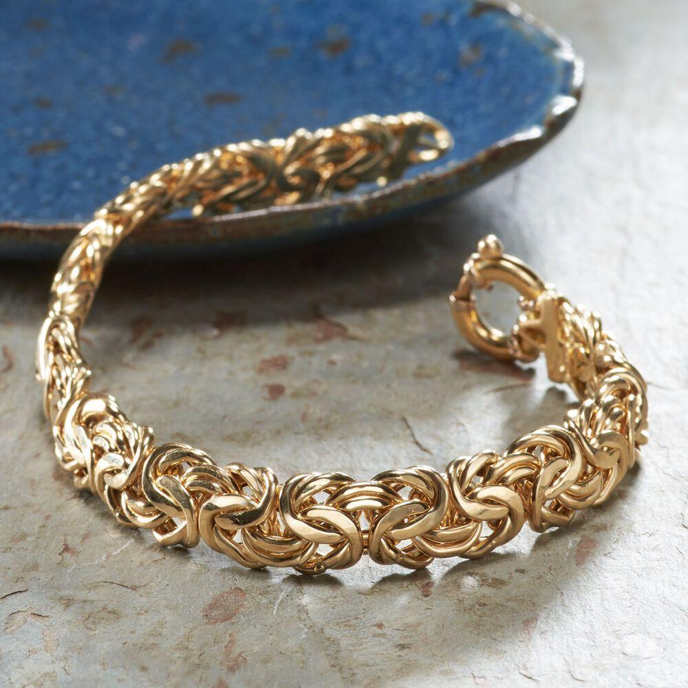 7d74d9473e1ab0 ... default Italian 18kt Yellow Gold Byzantine Bracelet, ...