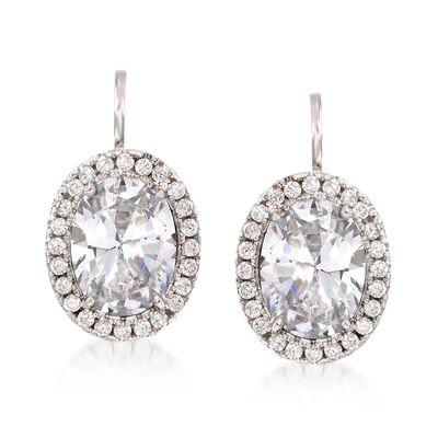 2.75 ct. t.w. CZ Drop Earrings in Sterling Silver