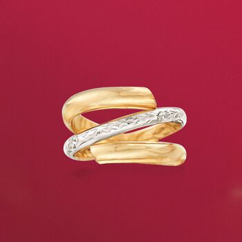 Italian 14kt Two-Tone Gold Spiral Ring