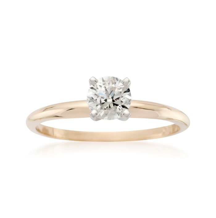 .50 Carat Diamond Solitaire Ring in 14kt Yellow Gold, , default