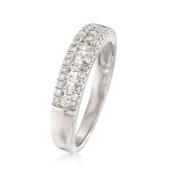 .35 ct. t.w. Diamond Three-Row Ring in 14kt White Gold