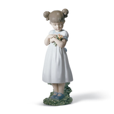 "Lladro ""Flowers for Mommy"" Porcelain Figurine, , default"