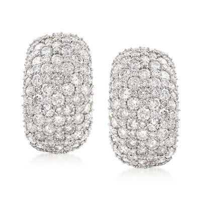 7.00 ct. t.w. Diamond Cluster Earrings in 14kt White Gold, , default